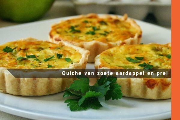 MijnAardappel.nl - Quiche van zoete aardappel en prei