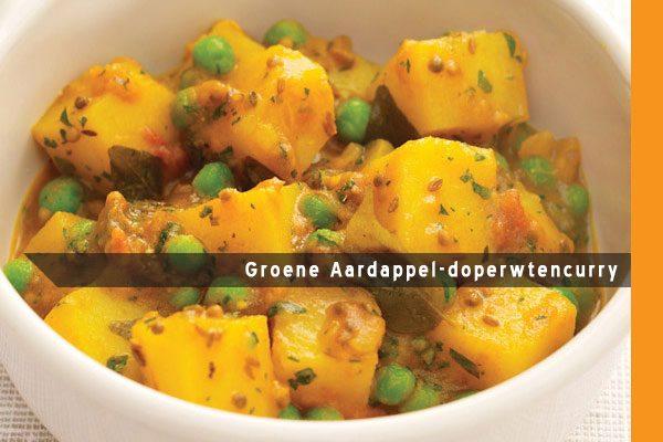 MijnAardappel.nl - Recept Groene Aardappel-doperwtencurry