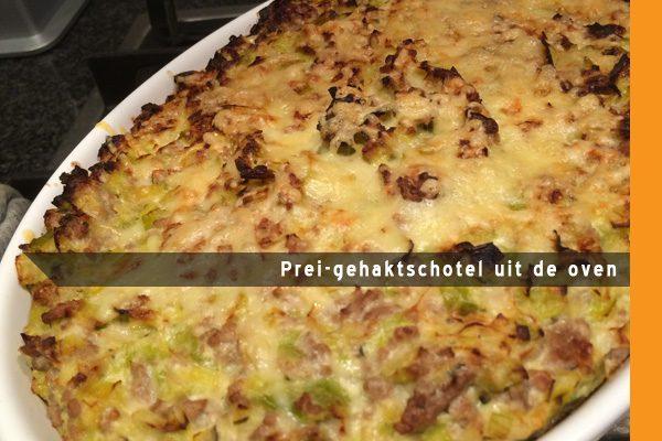MijnAardappel.nl - Recept Prei-gehaktschotel uit de oven