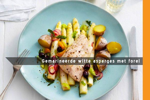 MijnAardappel.nl - Recept Gemarineerde witte asperges met forel