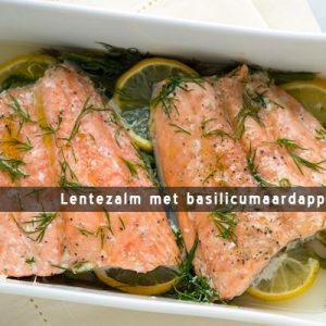 MijnAardappel.nl - Recept Lentezalm met basilicumaardappeltjes