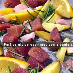 MijnAardappel.nl - Recept partjes uit de oven met een vleugje citroen