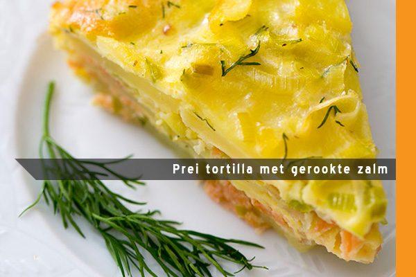 MijnAardappel.nl - Recept Preitortilla met gerookte zalm