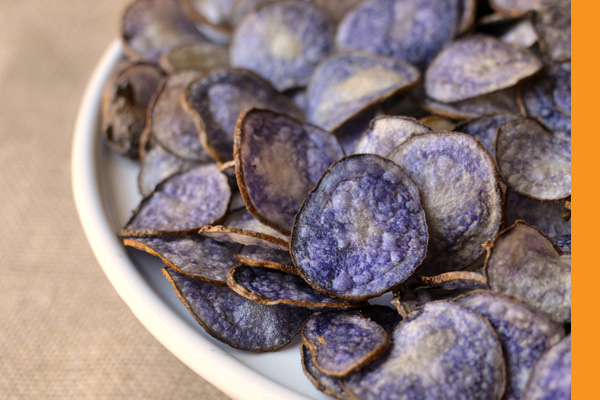 MijnAardappel.nl - Recept Paarse chips zelf bakken
